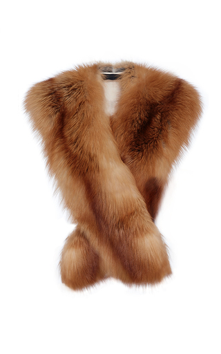 Medium co tan golden fox fur stole