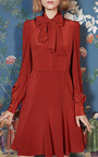 Crepe De Chine Tie Collar Dress by CO Now Available on Moda Operandi