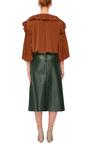 Ruffle Collar Blouson Top by CO Now Available on Moda Operandi
