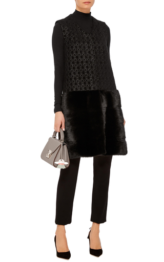 Brocade And Mink Fur Vest  by CO Now Available on Moda Operandi