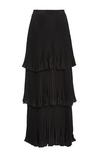 Medium co black pleated tiered skirt