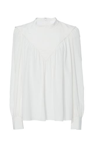 Medium co ivory crepe de chine trapeze blouse