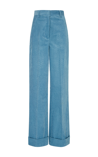 Medium trademark light blue light blue melanie corduroy high waisted pant