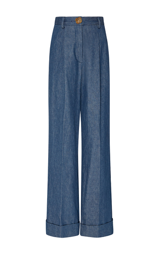 Medium trademark dark wash hishitomo denim high waisted pant