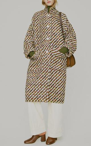 Axis Wool Oversized Tweed Coat  by TRADEMARK Now Available on Moda Operandi