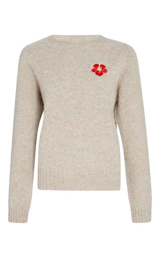 Medium trademark multi shetland embroidered sweater