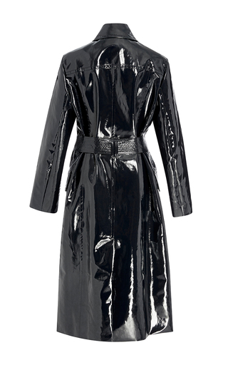Navy Bethnal Twill Oversized Trench Coat by TRADEMARK Now Available on Moda Operandi