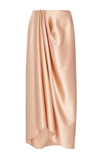 Medium trademark light pink charmeuse sarong skirt