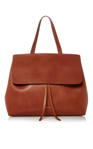 Medium mansur gavriel brown brown leather lady bag