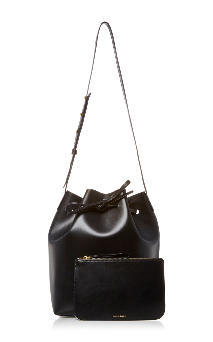mansur gavriel black leather bucket bag modesens. Black Bedroom Furniture Sets. Home Design Ideas