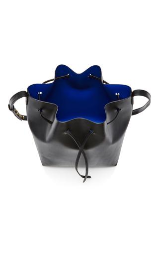 Black Leather Bucket Bag by MANSUR GAVRIEL Now Available on Moda Operandi