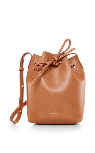 Medium mansur gavriel nude mini bucket bag 10