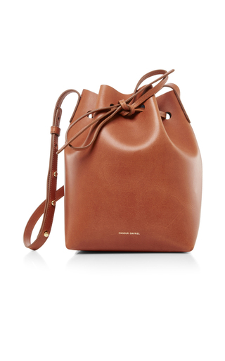 Medium mansur gavriel brown mini bucket bag 11