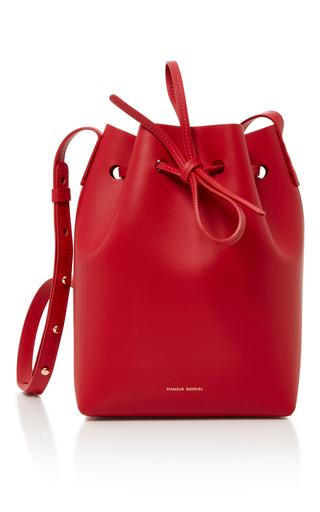 Medium mansur gavriel red mini bucket bag 1