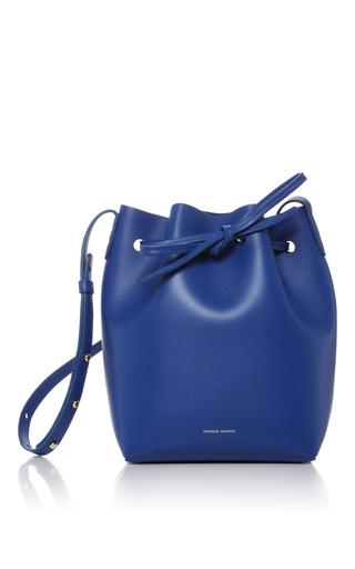 Medium mansur gavriel blue mini bucket bag 12