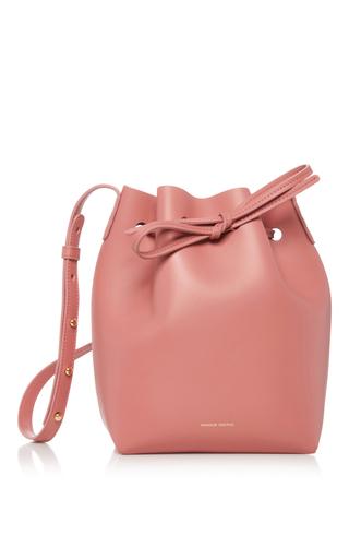 Medium mansur gavriel pink blush leather bucket bag