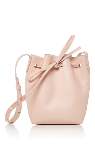 Medium mansur gavriel nude mini bucket bag 13