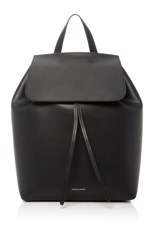 Medium mansur gavriel black mini backpack 3