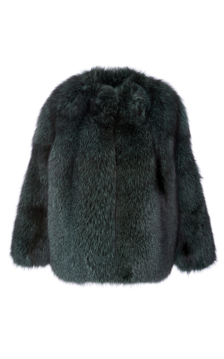 Medium katie ermilio green fox fur bomber