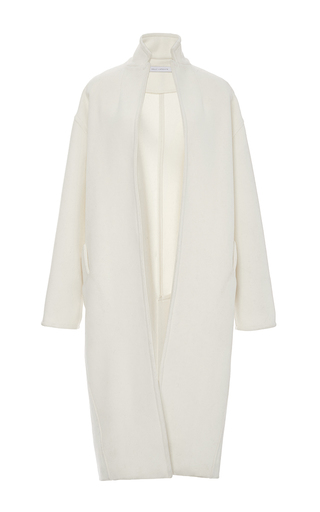 Medium sally lapointe off white felted wool cocoon coat