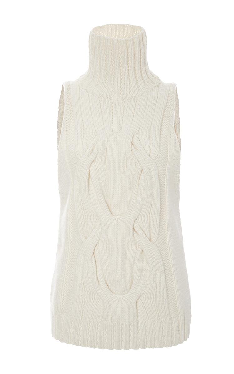 Cashmere Cableknit Sleeveless Sweater By Sally Moda Operandi
