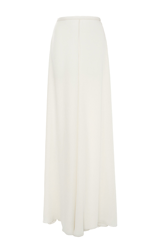 Medium sally lapointe off white double georgette wide leg pants