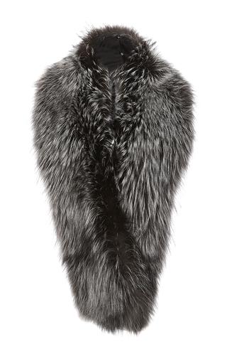 Medium sally lapointe dark grey long fox stole
