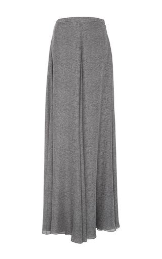 Medium sally lapointe light grey printed double georgette wide leg pants