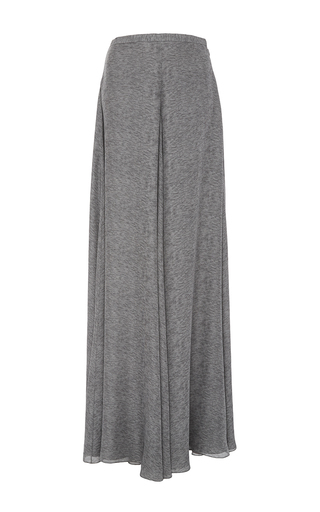 Medium sally lapointe light grey printed double georgette wide leg pants
