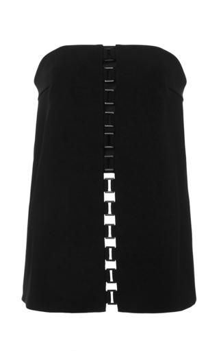 Medium sally lapointe black bonded crepe bustier