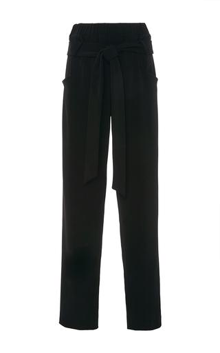 Medium sally lapointe black stretch crepe parachute pants