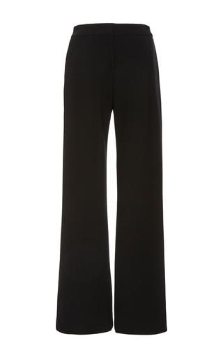 Medium sally lapointe black black bonded crepe classic trouser