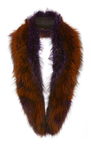 Medium sally lapointe brown violet short fox stole