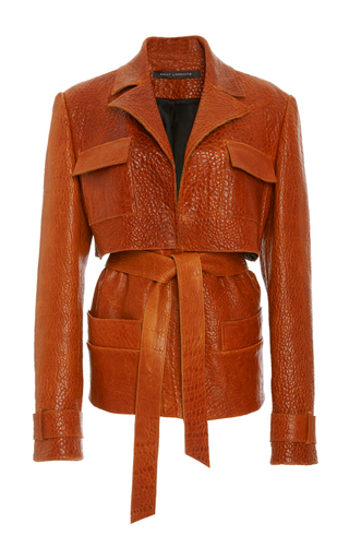 Crackled Leather Cargo Jacket by SALLY LAPOINTE Now Available on Moda Operandi