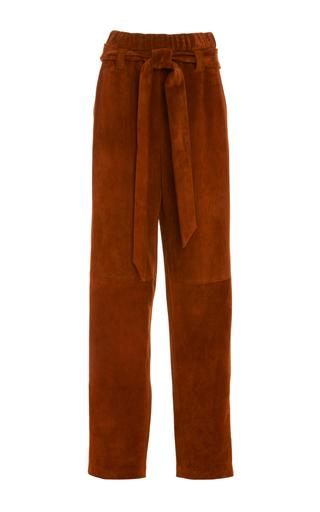 Medium sally lapointe burgundy suede parachute pants