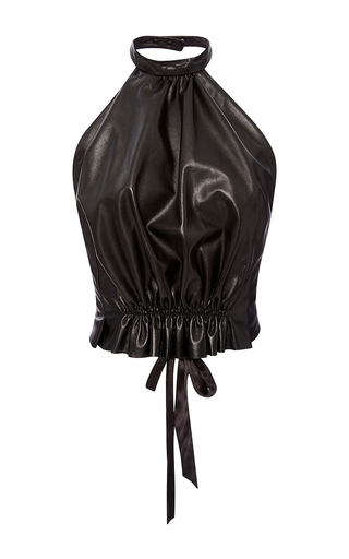 Medium rodarte black black leather halter top