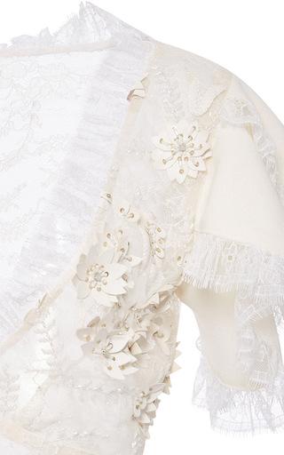 Laser Cut Lace Blouse by RODARTE Now Available on Moda Operandi