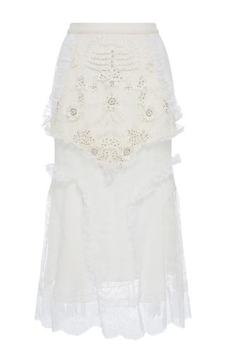 Medium rodarte white white laser cut lace skirt