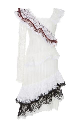 Single Sleeve Asymmetrical Ruffle Dress by RODARTE Now Available on Moda Operandi