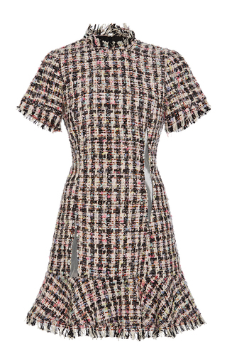 Medium sandy liang multi jeffrey tweed swarovski dress