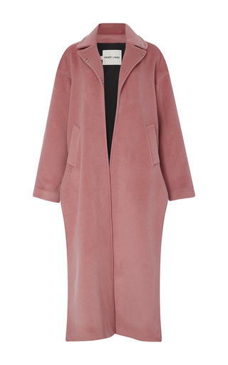 Medium sandy liang pink ava long split coat