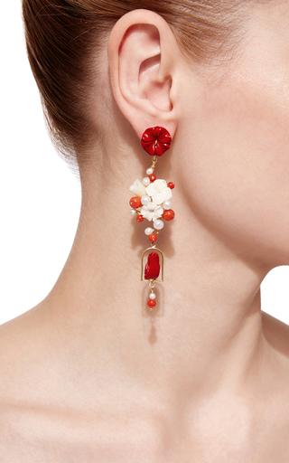 Red Nesters Earring by OF RARE ORIGIN Now Available on Moda Operandi