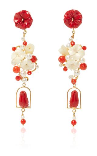 Medium of rare origin red red nesters earring