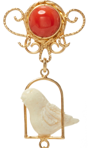 Ruby Swingers Earring by OF RARE ORIGIN Now Available on Moda Operandi