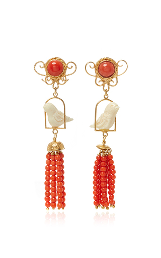 Medium of rare origin red ruby swingers earring