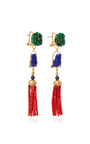 Malachite Swingers Earring by OF RARE ORIGIN Now Available on Moda Operandi