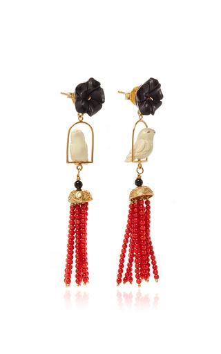 Black Swingers Earring by OF RARE ORIGIN Now Available on Moda Operandi