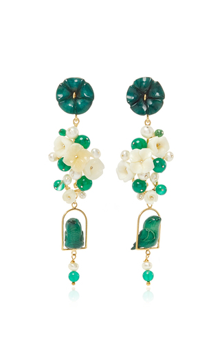 Jade Nesters Earring by OF RARE ORIGIN Now Available on Moda Operandi