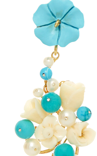 Turquoise Nesters Earring by OF RARE ORIGIN Now Available on Moda Operandi