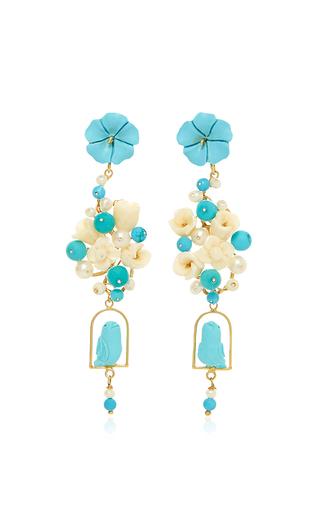 Medium of rare origin turquoise turquoise nesters earring